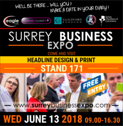 Headline Design and Print to exhibit at Surrey Business Expo