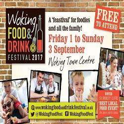 Headline Design & Print working with Woking Food & Drink Festival